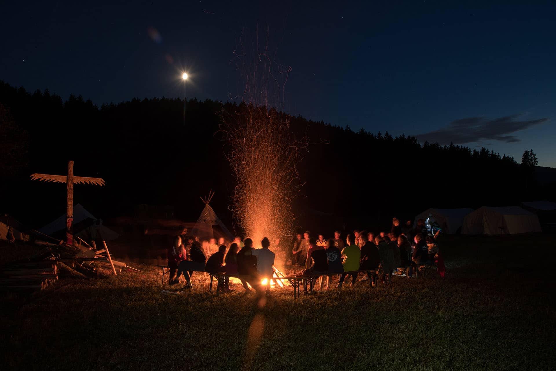Lagerfeuer bei DPSG Sinzing - Pfadfinder Stamm Sinzing bei Regensburg